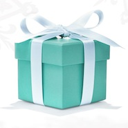 Tiffany's iconic blue box