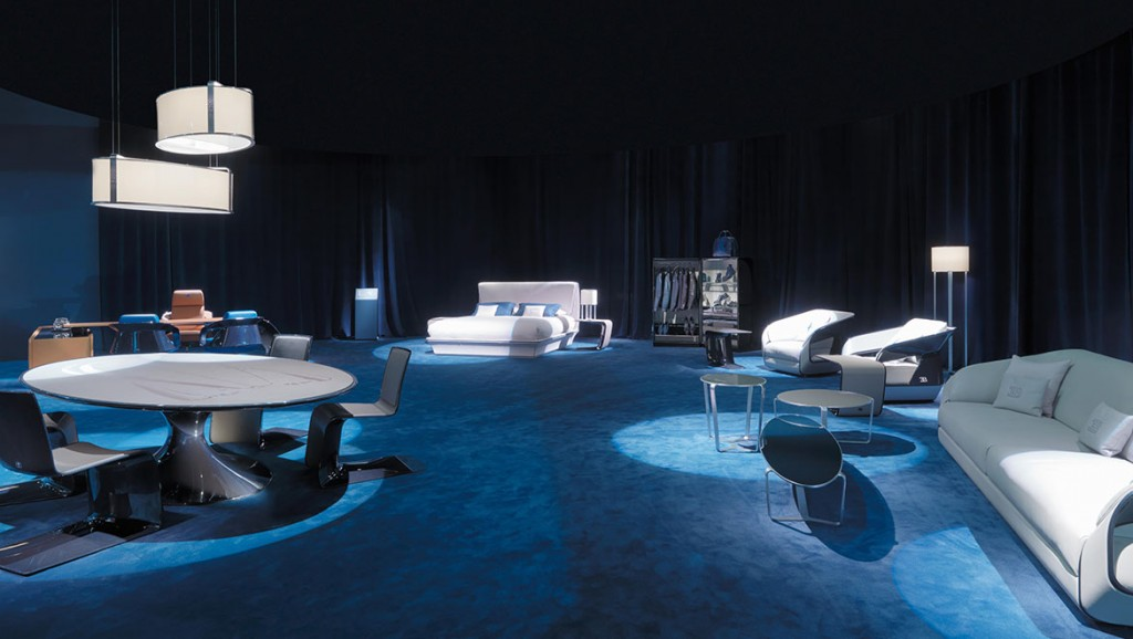 BU Atlantic table and chairs, Gianoberto lighting, Lydia bed, Royale sofa and armchairs
