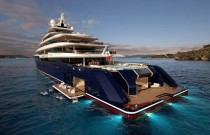 The Big Reveal: 120 Metre Gigayacht with Cascading Waterfall Between 2 Pools