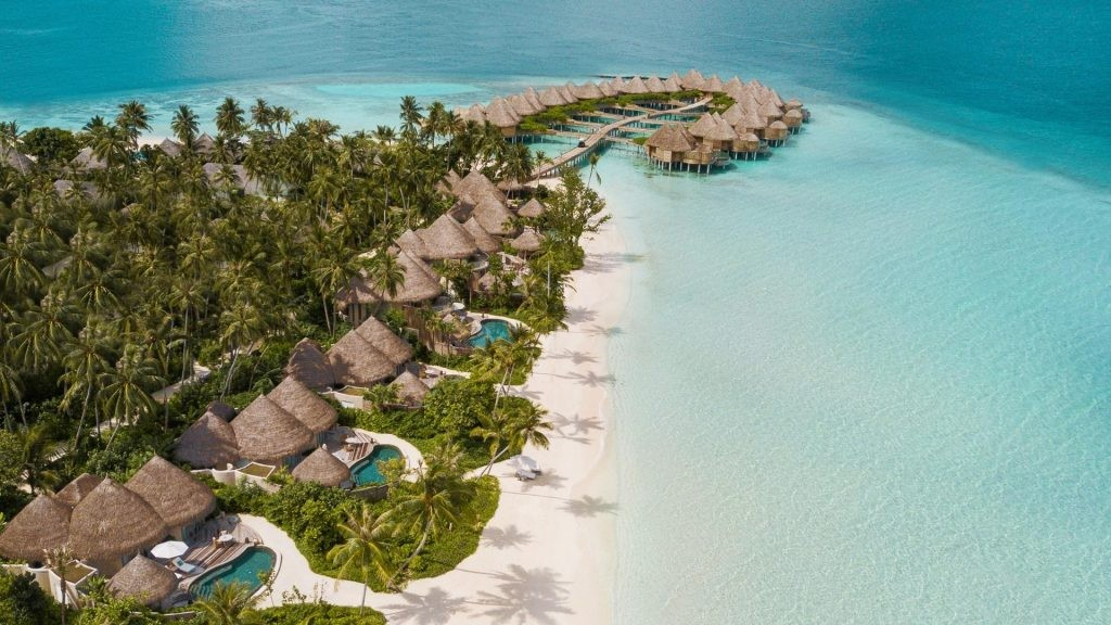 Private islands in the Maldives like the one the Nautilus Maldives occupies is going to auction