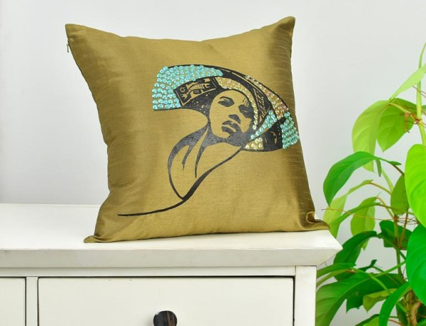 Beaded-pillow-gold
