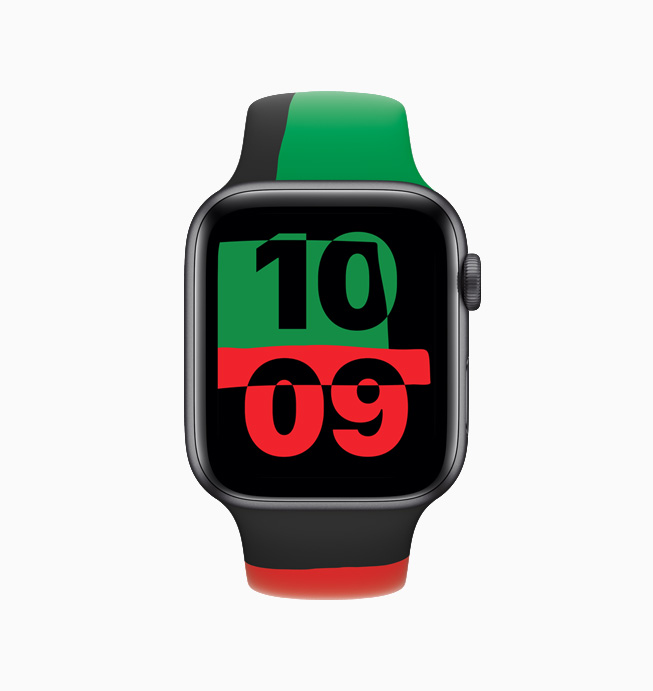 The Unity watch face displays an ever-changing pattern