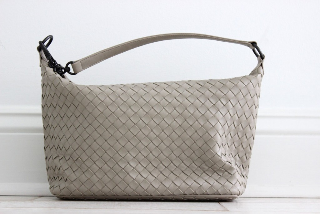 For distinct packaging, luxury brands can use hard to copy colours like the Bottega Veneta taupe