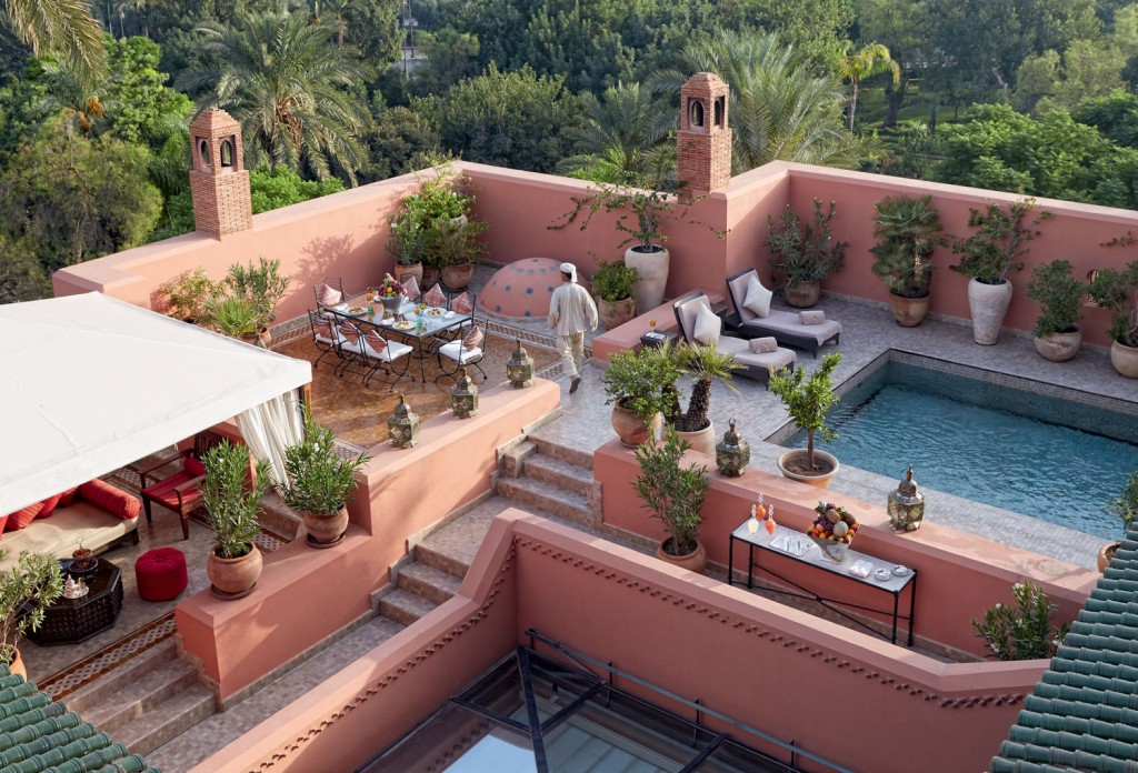 A view from the luxury The Grand Riad, a destination in Africa