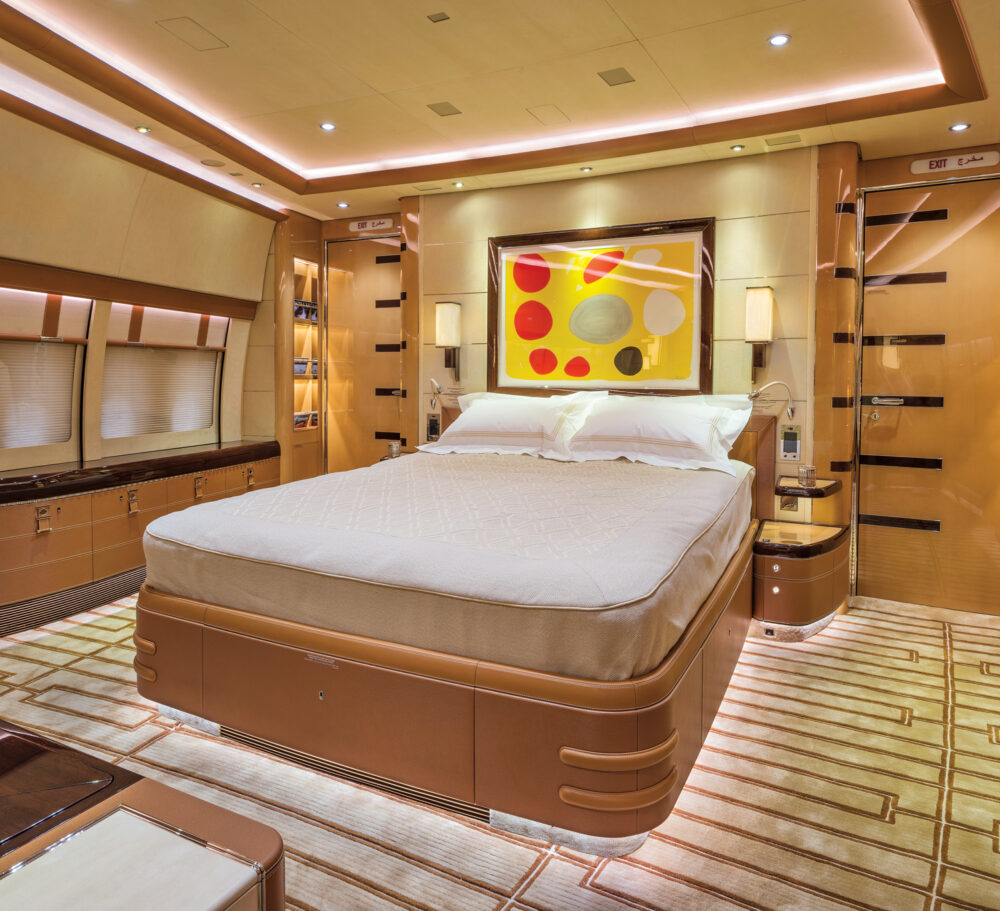 The master bedroom of the Boeing 747
