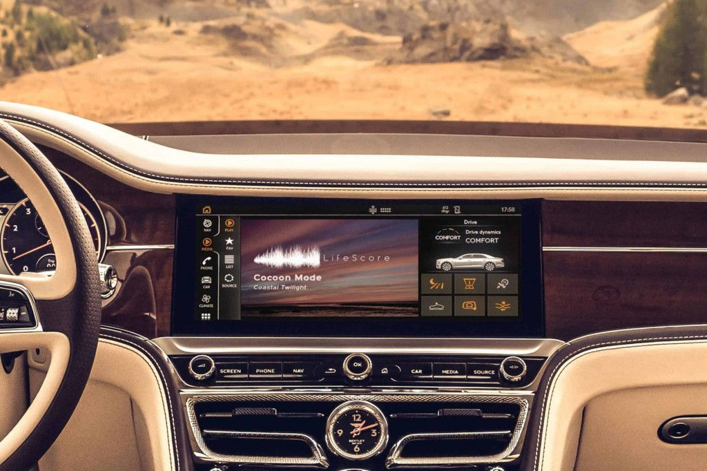 Bentley EVs will come with adaptive music from LifeScore that matches a driver's driving style