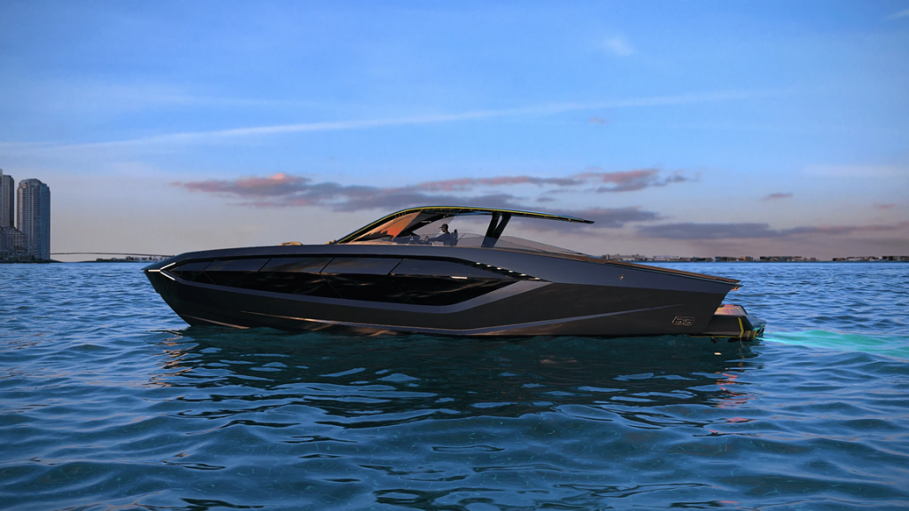 The yacht is very fast but does not give any vibrations