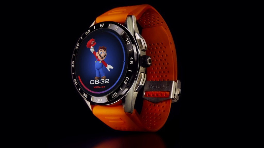 The Tag Heuer Connected Super Mario edition smartwatch
