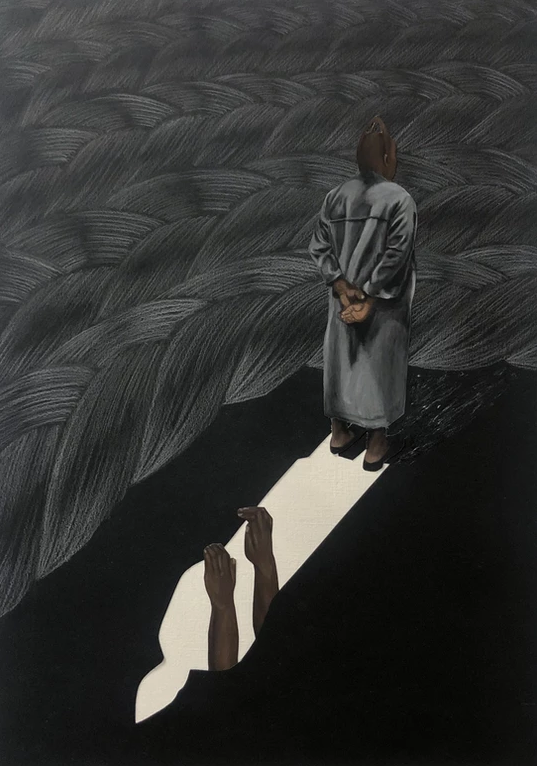 I fell into your shadow artwork from the Escape to within collection by Bunmi Agusto