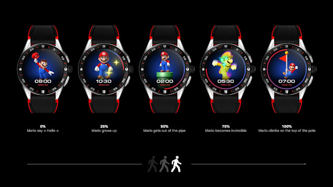 The dial of the Connected Super mario edition changes with your activity